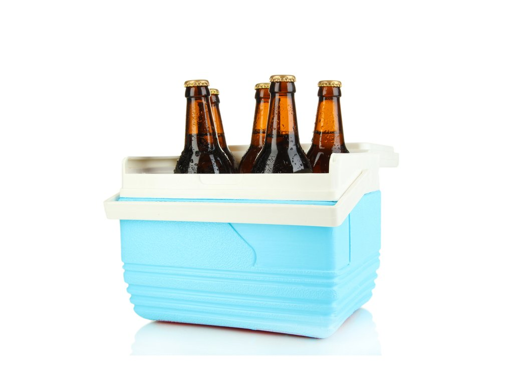 Cooler full of beer