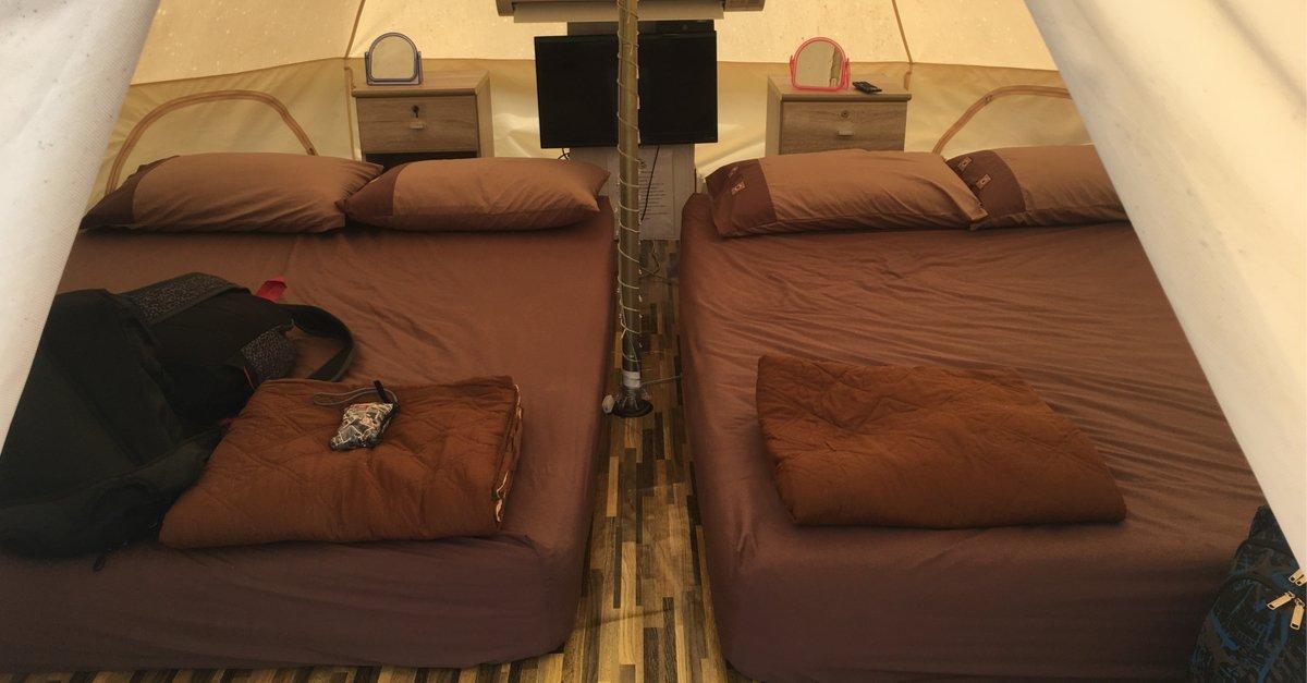 Super comfortable tent camping setup