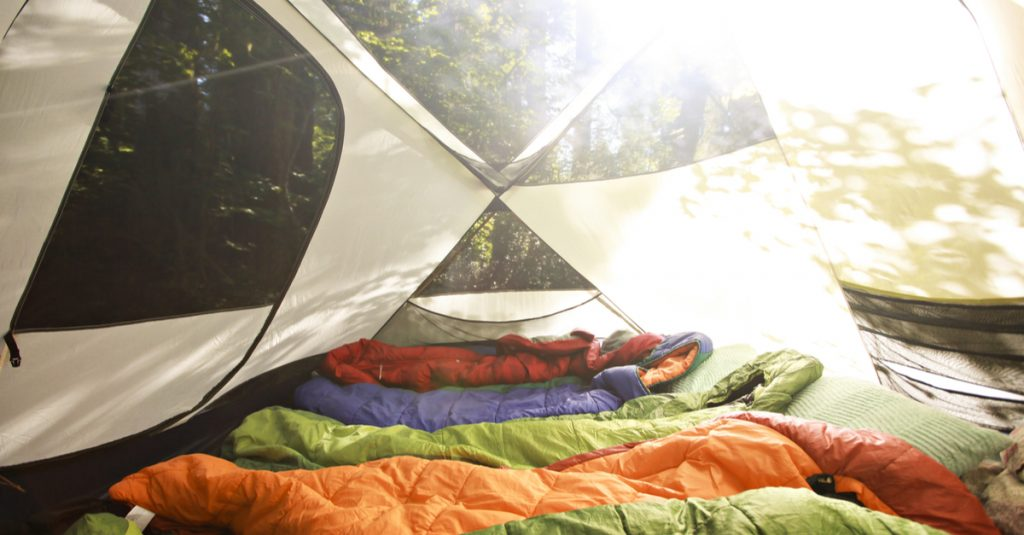 Too many bodies in sleeping bags in tent