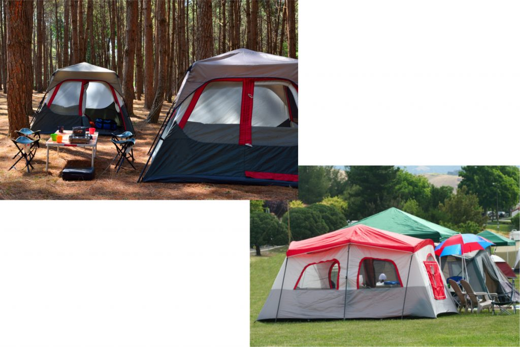Selection of cabin tents