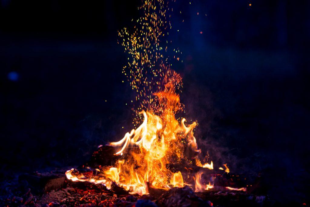 Large, Beautiful Campfire