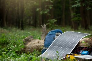 Guide to portable power while camping - solar panel, power pack and backpacy