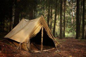 Home made a-frame tent