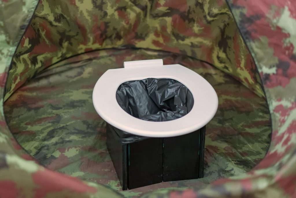 Makeshift dispersed camping toilet