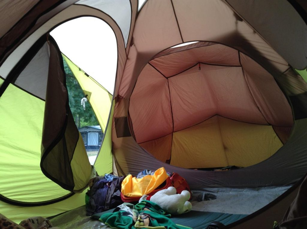 Space inside the best 12-person family camping tents