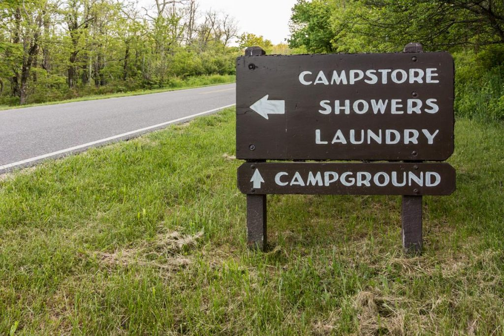 Campground Shower Sign