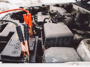 Car Battery with Jump Leads - Will a Camping Fridge Drain Your Car Battery