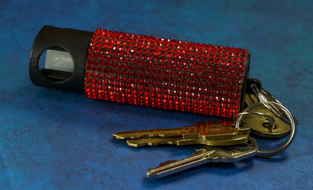 Pepper Spray on key ring